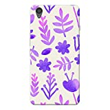 INKIF Leaves Designer Case Printed Mobile Back Cover for One plus X /Oneplus x (Purple )