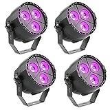 Tomshine 15W 3 LEDs DMX512 Disco Beleuchthung Par Licht mit Fernbedienung,RGBP Mischfarbe,4 Betriebsarten für Indoor Disco KTV Club Party Pub Bar Bankett Hochzeit