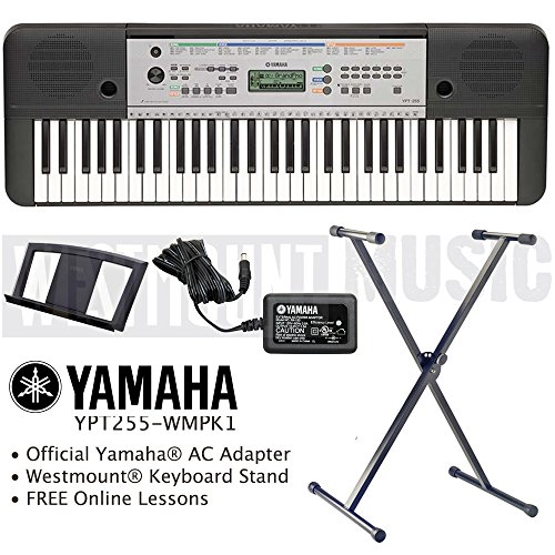 yamaha-ypt-255-keyboard-including-westmountr-stand-and-online-lessons