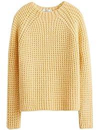 123f6b23ee MANGO Women s Wool Suit Pants 43020848 Yellow · £59.95 · MANGO Women s  Chunky-Knit Sweater 43000773 Yellow