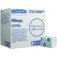 Kleenex 8408 Ultra Carta Igienica Intercalata, 2 Veli, Bianco, 200 Veline, 36 Pacchi