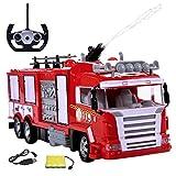 Diawell RC ferngesteuertes Feuerwehrauto Feuerwehr Auto Truck mit Wasserspritzer Licht Sirene inkl. Akku und Ladekabel