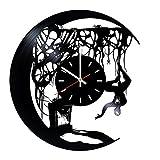 Spiderman Comics en Vinyle Horloge Murale Home Decor, décoration Salon Inspirants Comics Marvel DC Film, Vinyle Horloge Murale avec mécanisme Silencieux, Autocollant Mural, décoration de Maison