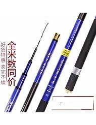 ZHUDJ La Caña De Pescar 19 Aumento Super Duro Carbon Black Rod Caña De Pescar Caña De Pescar Batalla 3.5H Carp Rod, Fly Rod,Cantar De 2,7 Metros