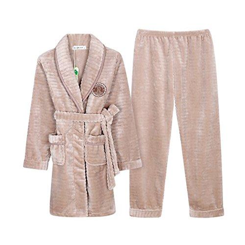 autunno e inverno ladies pigiami di flanella/ tempo libero a casa pigiama/Ispessito coral fleece lunga home service kit A