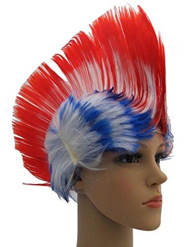 Sonia Originelli Perücke Irokese IRO Kopfbedeckung WM EM Fan Party Fasching Karneval Farbe Australien