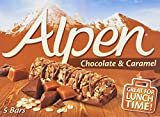 Alpen Chocolate and Caramel 5 Cereal Bars 145 g