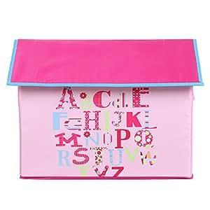 UberLyfe Kids Toy Storage Boxes cum Organizer - Pink House Shaped (KSB-001162-PK)