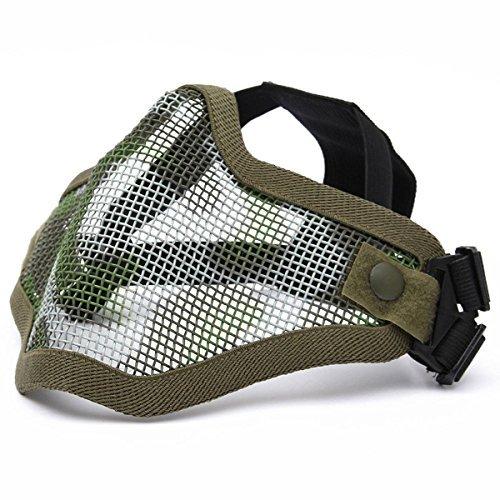 Maske Metallic Skull (camtoa Maske von Taktik, Metallic Schutz Skull Geschwindigkeit Maske Hälfte des Gesicht Taktik Airsoft Militärische vert)