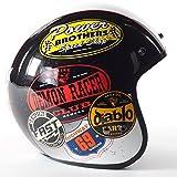 Stealth Motorrad Helm gesichtsoffen Fiberglas Old School Farbe Large 59-60cm