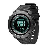 Reloj Deportivo Digital para Hombre Horas Deportes al Aire Libre Impermeables para Correr Natación Multifuncional Relojes Militares para Exteriores con brújula de altímetro