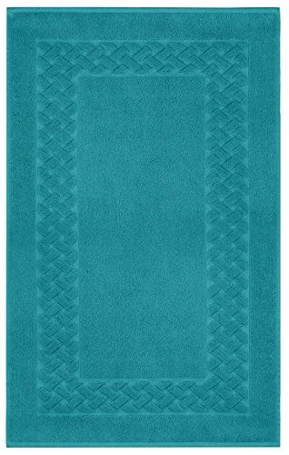 Lashuma Badezimmerteppich Petrol – Blau | Klassischer Badläufer | Rutschhemmend | Royal 50 x 80 cm