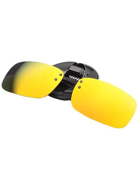 Azue Herren Polarisierte Brillenglas für Brillenträger Überzieh-Sonnenbrille Sonnenbrillen-Clip Silber w8hsJQMU8