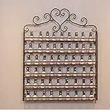 DWLXSH Nail Polish Organizer Wandständer Halten 120 Flaschen Nagellack Regal, Schwarz