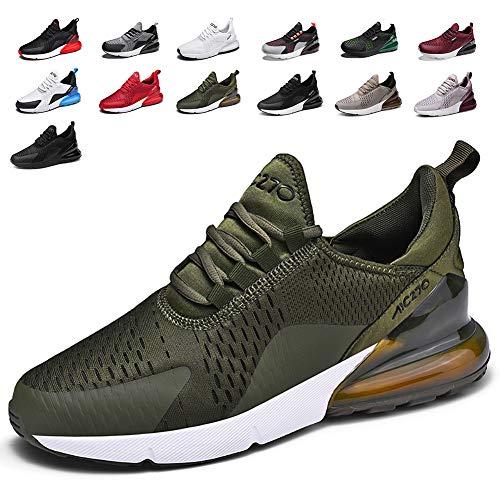 smarten Sportschuhe Herren Damen Laufschuhe Luftkissen Schuhe Turnschuhe Fitness Gym Leichtes Bequem Sommer Trekking Sneakers GreenA 43 EU