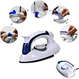 Inditradition 700 Watt Mini Travel Steam Iron with Foldable Handle, Compact & Lightweight (White)