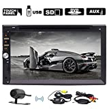 Wireless rearview camera+In-dash Double-din Car DVD Player LCD Touch Screen Car Audio
