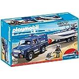 Playmobil Polizei-Truck mit Schnellboot 5187 4 +