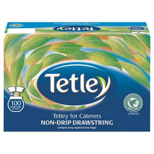 Tetley Non-Drip Drawstring 100 Teabags 250g