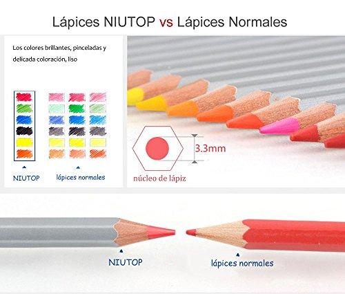 VENTA! NIUTOP 36 Color Premier suave ncleo arte dibujo lapices de ...