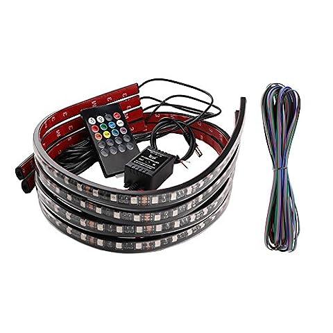 KUMEED LED-Streifen für die Heckklappe, Lichtleiste 152,4 cm, 2835-108 LEDs, rot/weiß, wasserdicht, Redline, flexible LED-Heckklappe, Lichtleiste für LKW, Rückwärtsgang, Bremse, Blinker, Schwenklicht für LKW, SUV, RV (108 LED)
