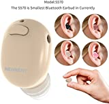 Kingbull World's Smallest Mini Bluetooth Headset,Miniature Earpiece,Up to 6 Hours Battery Life,Invisible V4.1 Wireless Bluetooth Car Earphone In-ear Earbud Earpiece Headphones with Mic Hands-Free Calls for iPhone, iPad ,Macbook Air,Surface Pro4,Laptop,Samsung Galaxy,Huawei, LG ,HTC and Most of the other Smartphones and Tablets (Nude)