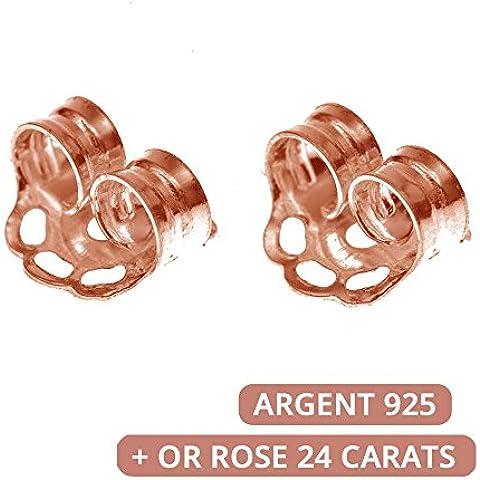 –Set di 10chiusure stantuffi per chiodi/orecchini–in argento