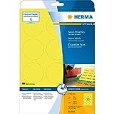 Herma 5152 Universal-Etiketten (A4 60 mm rund Papier matt) 240 Stück neon-gelb