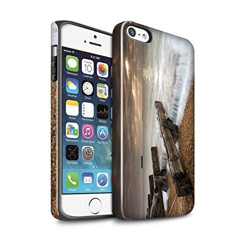 Coque Brillant Robuste Antichoc de STUFF4 / Coque pour Apple iPhone 5/5S / Point De Vue Jetée Design / Bord Mer Anglaise Collection Barricade