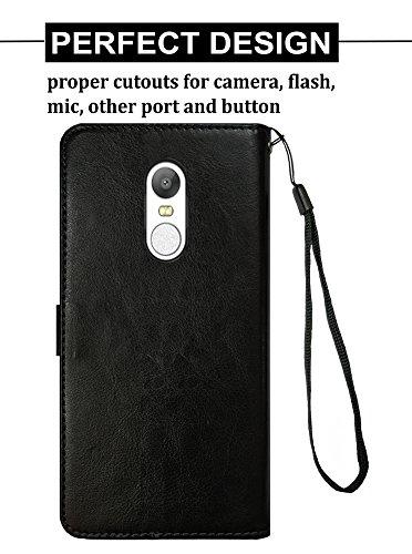 designer fashion fc1d6 a8093 Febelo Mi Redmi 5 Premium Quality PU Leather Magnetic Lock Flip Cover Case  for Mi Redmi 5 (2018) - Vintage Black