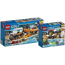 LEGO City 60165–Fuoristrada Con Gommone di Salvataggio + 60163–Guardia Costiera di LEGO City Starter set di