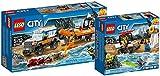 LEGO City 60165 - Geländewagen mit Rettungsboot + LEGO City 60163 - Küstenwache-Starter-Set