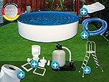 Pool Set Easy 5,00x1,50m rund Stahlwandbecken Komplettset Aufstellbecken