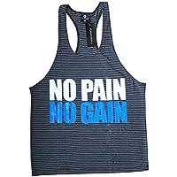 No pain No gain Singlet | Tank Top, Chaleco Stringer, Bodybuilding, yback espalda cruzada Dbz viscosa, extra-large