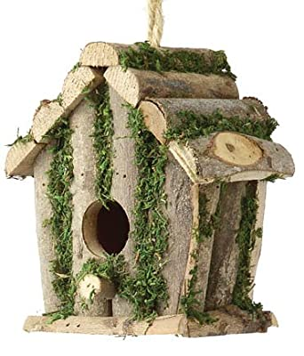 Square Log Hut - Bird Nesting Box by Tom Chambers