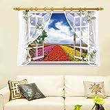 Adesivi murali tridimensionali creativi tridimensionali con paesaggio camera da letto divano soggiorno sfondo adesivi murali decorativi 90x60cm