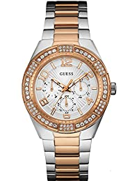 Guess Damen-Armbanduhr Analog Quarz Edelstahl W0729L4