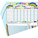 Outus 10 Pieces Reward Chore Chart Dry Erase Behavior Chart Learning Responsibility Star Chart Reusable Self-Adhesive Reward Chart for Children in Home and Classroom Learning, 14.5 x 11 Inches