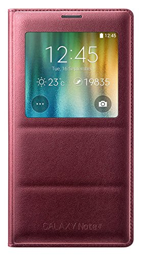 Samsung Galaxy Note 4 S View Cover (PLUM RED)