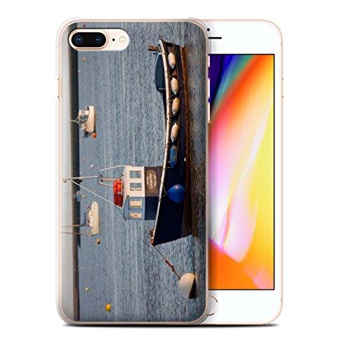 Stuff4 Hülle / Case für Apple iPhone 8 Plus / Rotes Boot Muster / Britischen Küste Kollektion Verankerten Boot