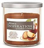 Home Inspiration by Yankee Candle - Apfel Karamel - Duftkerze im mittleren Glas mit Deckel - Farbe Braun - 198g