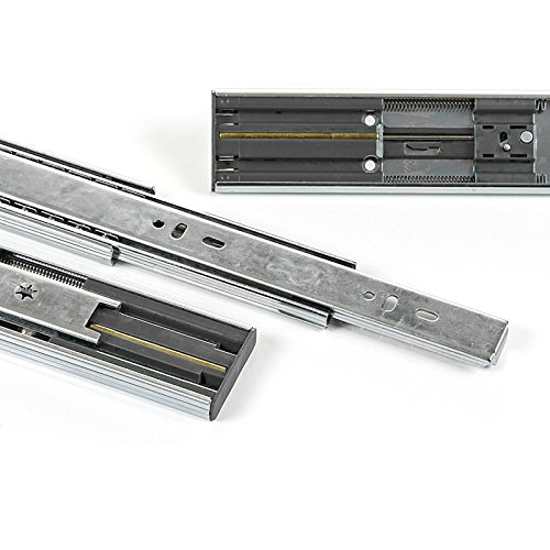 1 Paar (2 Stück) SO-TECH® Vollauszüge mit SoftClosing H 35 / L 450 mm 30 Kg Tragkraft Korpusschiene Schrankauszug