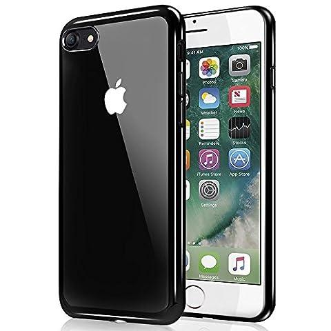 iPhone 7 Hülle, Ubegood Kratzfeste Plating TPU iPhone 7 Bumper Case Weiche Silikon Hülle Transparent TPU Schutzhülle Kristall Tasche Klar Hülle Durchsichtig Handyhülle für iPhone 7 (Jet