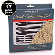 William Mitchell Calligraphy Pen Set - Complete 3 Pen Script Calligraphy gift set ● Designed for LEFT-HANDED writers ● Suitable for all levels
