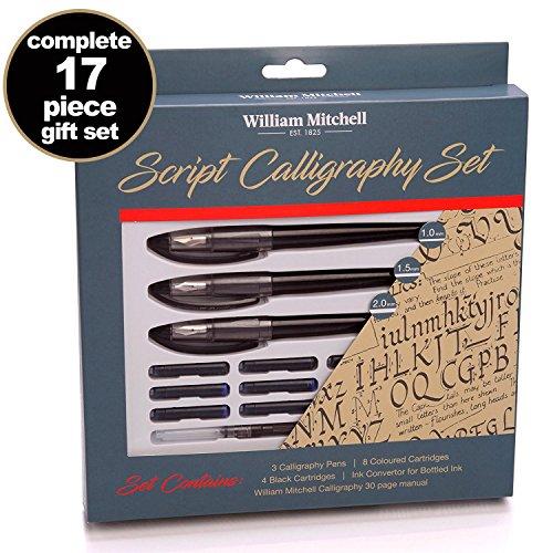 William Mitchell : Script Calligraphy Set (Left Oblique)