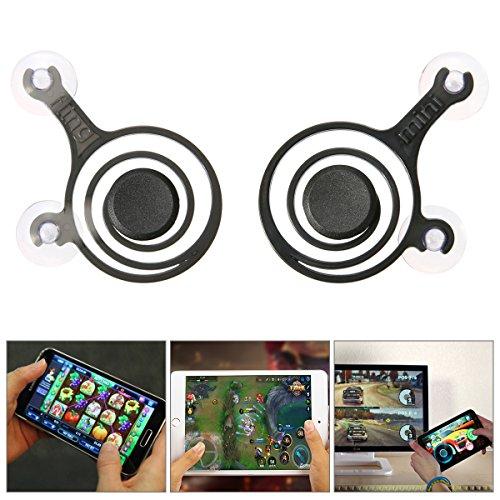 Festplatten Rahmen Abdeckung Videoleuchte Mini Joystick Arcade Controller für Spiel-Smartphone Tablet Controller-Spiel mit Touchscreen iPhone iPad Android (2 Halo Mini)