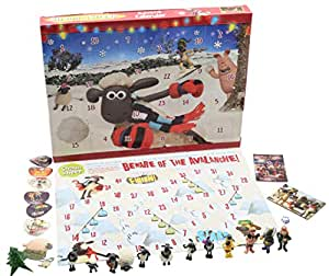 Shaun The Sheep Calendrier de l'Avent pour Enfants Wallace and Gromit Inclut Figurines Jeu de Société Puzzle