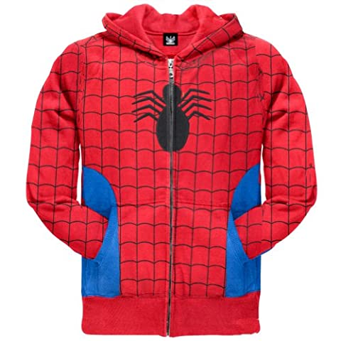 Old Glory Spider-Man Versteckte Juvy Costume Parker Hoodie (Music Man Film Kostüme)