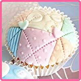 "Patchwork Quilt 4"" x 4"" - Silicone Design Mat for Cake Decorating, Cupcakes, Sugarcraft and Candies"