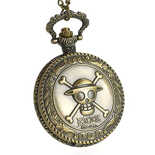 CoolChange One Piece Montre de Poche avec Jolly Rogers des Pirates Chapeaux de Paille
